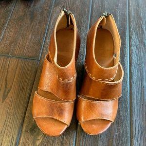 Bed Stu Brown Leather Platform Sandal